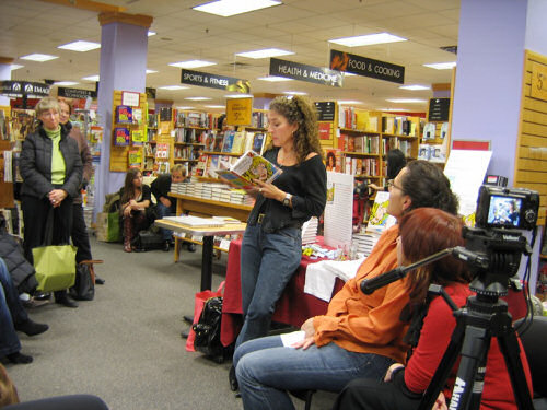 Madeleine Beckman reading at Borders